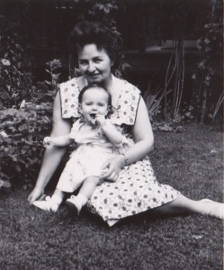Grandma and me Easter 1959.